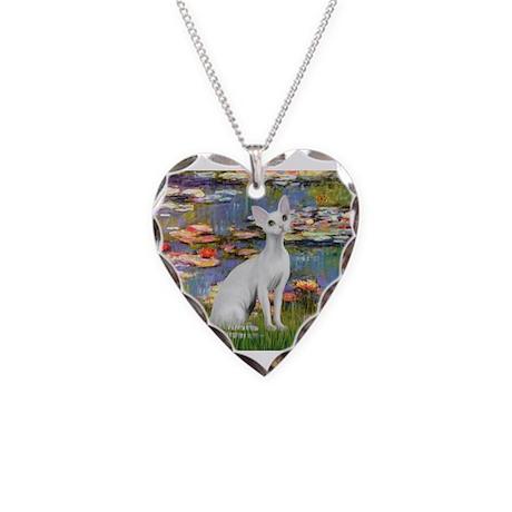 Lilies (#2) & Devonshire Rex1 Necklace Heart C