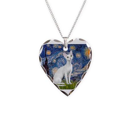 Starry Night Devonshire Rex1 Necklace Heart Charm