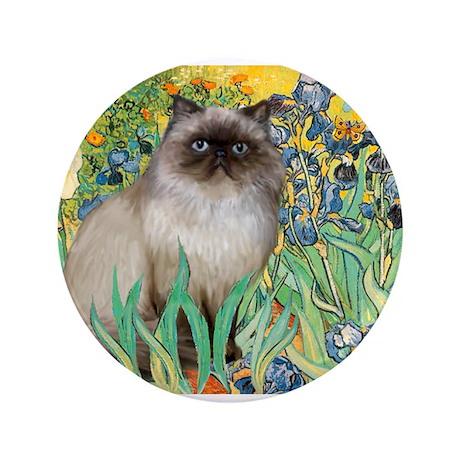 """Irises / Himalayan 3.5"""" Button"""