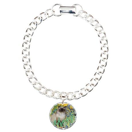 Irises / Himalayan Charm Bracelet, One Charm