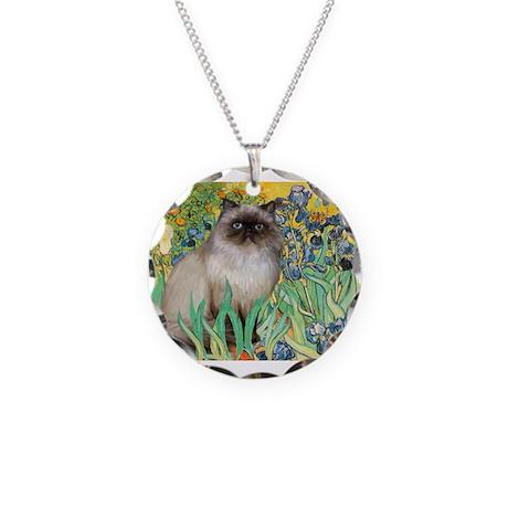 Irises / Himalayan Necklace Circle Charm