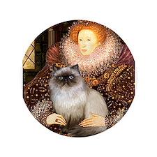 "Queen & Himalayan cat 3.5"" Button"
