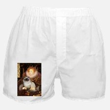 Queen & Himalayan cat Boxer Shorts