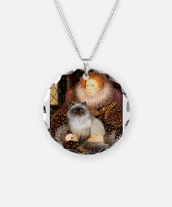 Queen & Himalayan cat Necklace