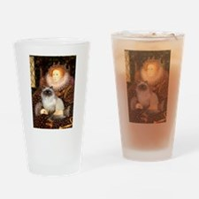 Queen & Himalayan cat Drinking Glass