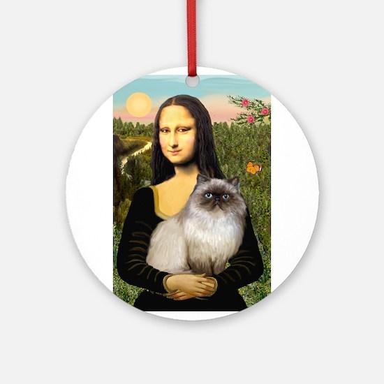 Mona's Himalayan Cat Ornament (Round)