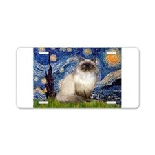 Starry Night Himilayan (#1) Aluminum License Plate