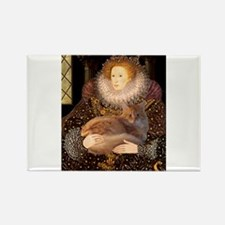 Queen / Red Maine Coon Rectangle Magnet