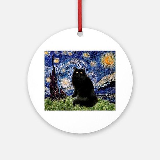 Starry Night /Persian (bl) Ornament (Round)