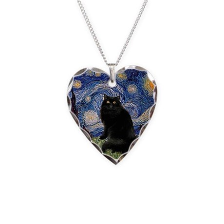 Starry Night /Persian (bl) Necklace Heart Charm