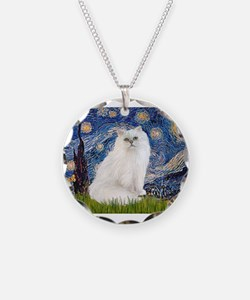 Starry Night White Persian Necklace