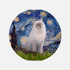 "Starry Night Ragdoll 3.5"" Button"