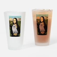 Mona & her Ragdoll Drinking Glass