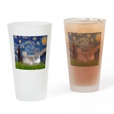 Starry / Lilac Pt. Siamese Drinking Glass