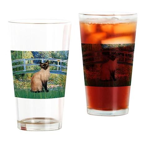 Lily Bridge & Siamese Drinking Glass