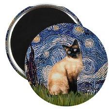 Starry Night Siamese Magnet
