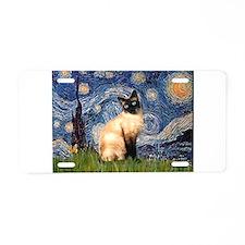 Starry Night Siamese Aluminum License Plate