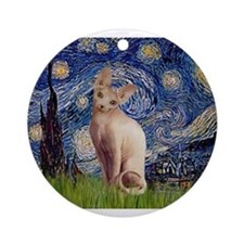 Starry Night / Sphynx Ornament (Round)