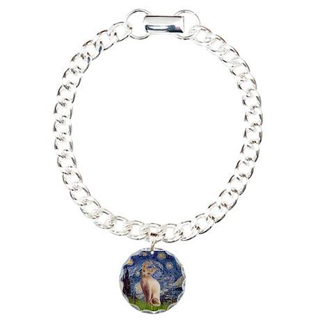 Starry Night / Sphynx Charm Bracelet, One Charm