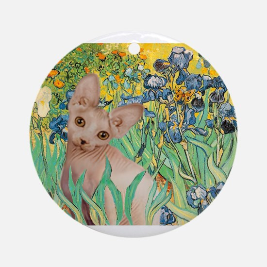 Irises / Sphynx Ornament (Round)