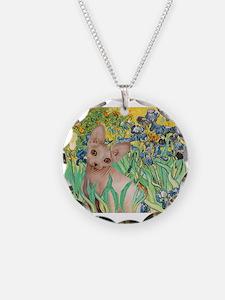 Irises / Sphynx Necklace