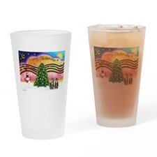 X-Music2-Two Brown Tabbys Drinking Glass