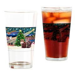 XmasMagic/2 Maine Coon Drinking Glass