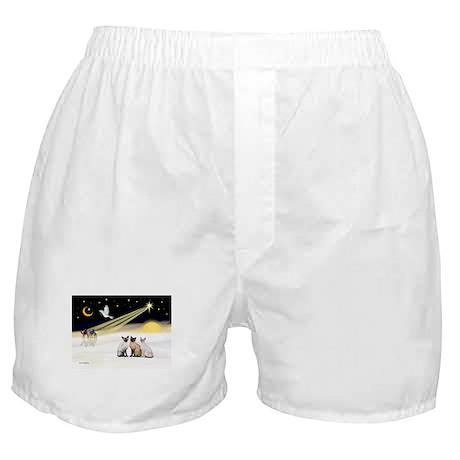 XmasDove-3 Siamese cats Boxer Shorts