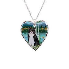 Birches / (B&W) Cat Necklace