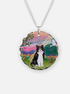 Angel (B&W) Cat Necklace