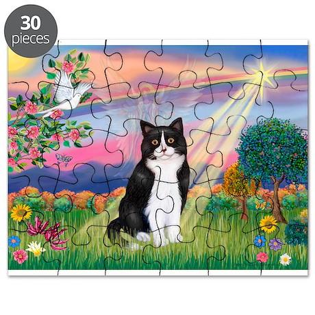 Angel (B&W) Cat Puzzle