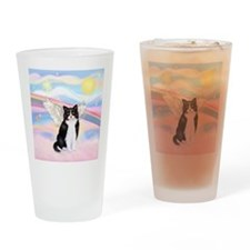 Clouds / (B&W) Cat Drinking Glass