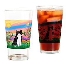 Day Star / (B&W) Cat Drinking Glass