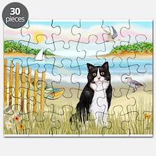 Rowboat / (B&W) Cat Puzzle