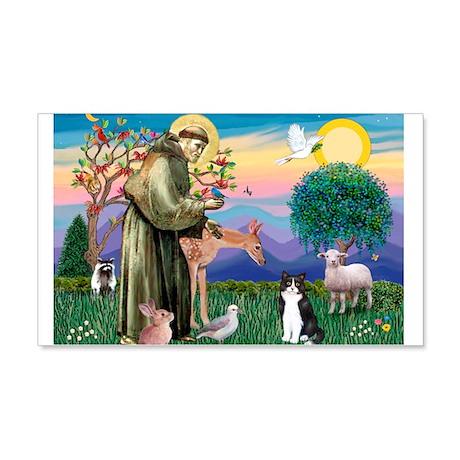 St Francis / (B&W) Cat 22x14 Wall Peel