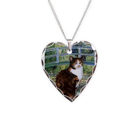 Bridge /Calico Necklace Heart Charm