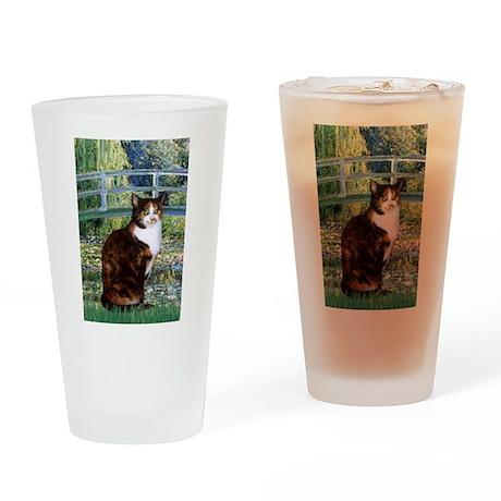 Bridge /Calico Drinking Glass