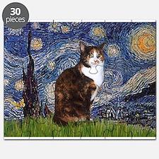 Starry Night & Calico Cat (#1 Puzzle