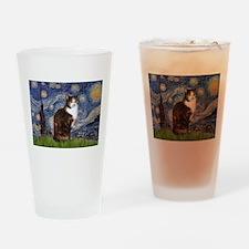Starry Night & Calico Cat (#1 Drinking Glass