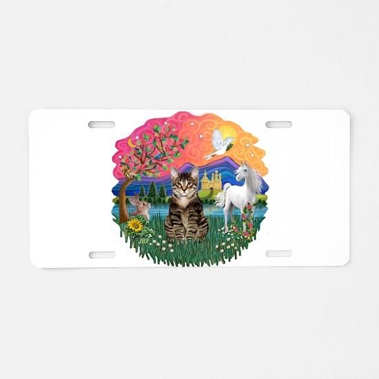 Fantasy Land/Tabby Tiger Cat Aluminum License Plat