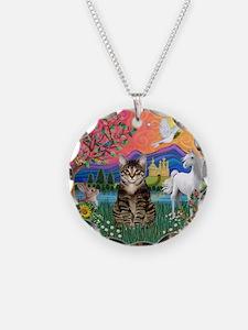 Fantasy Land/Tabby Tiger Cat Necklace