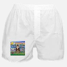Lilies / Tab Tiger Cat Boxer Shorts