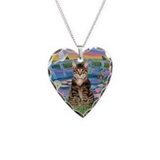 Lilies / Tab Tiger Cat Necklace