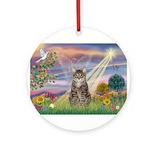 Cloud Star / Tiger Cat Ornament (Round)