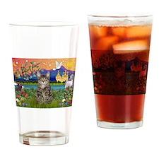 Fantasy Land / Tiger Cat Drinking Glass