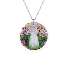 Blossoms / (White) Cat Necklace