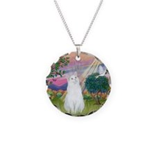 Cloud Angel / (White) Cat Necklace