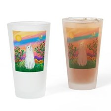Day Star / (White) Cat Drinking Glass