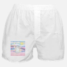 Clouds / (White) Cat Boxer Shorts
