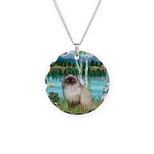 Birches / Himalayan Cat Necklace